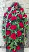 Венок объемный, розы