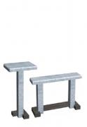 Стол, лавка. Серый мрамор