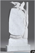 Белый мрамор №24