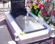 Мрамор белый с закрытой надгробной плитой h15